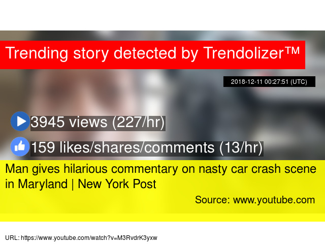 0b8ebf062f1 Man gives hilarious commentary on nasty car crash scene in Maryland