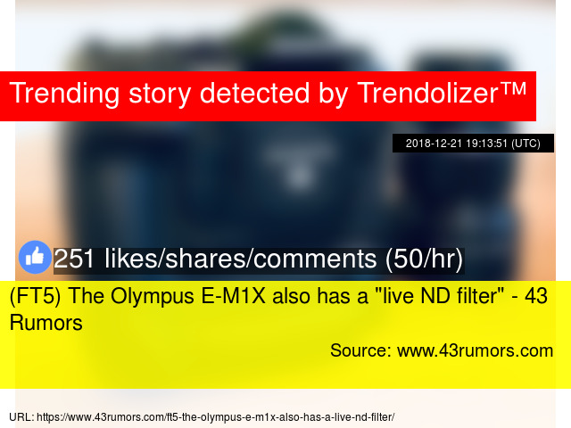 """FT5) The Olympus E-M1X also has a """""""