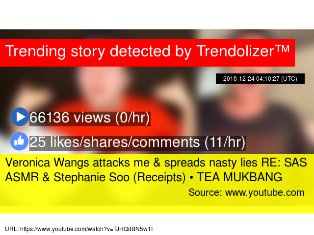Veronica Wangs attacks me & spreads nasty lies RE: SAS ASMR