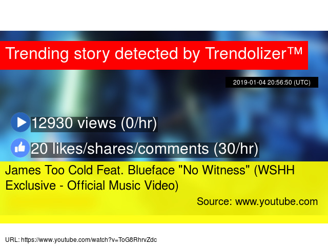 James Too Cold Feat  Blueface