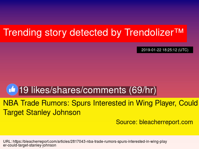 NBA Trade Rumors: Spurs Interested in Wing Player, Could