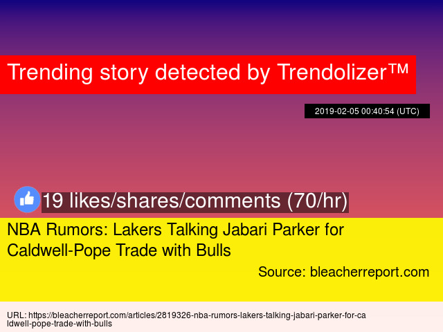 NBA Rumors: Lakers Talking Jabari Parker for Caldwell-Pope