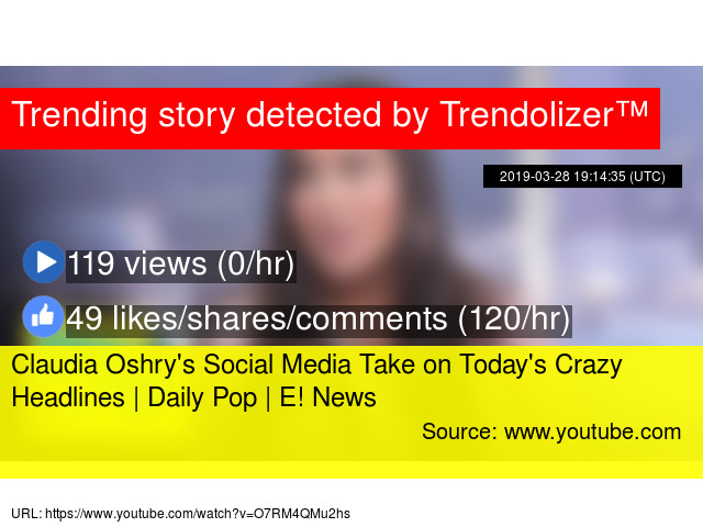 Claudia Oshry S Social Media Take On Today Crazy Headlines Daily Pop E News