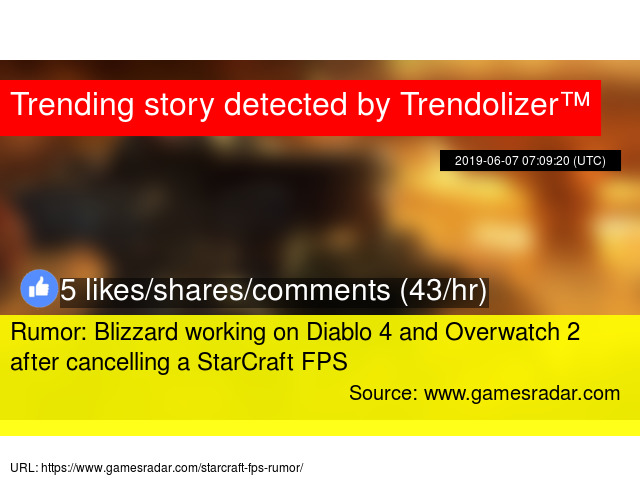 Rumor: Blizzard working on Diablo 4 and Overwatch 2 after