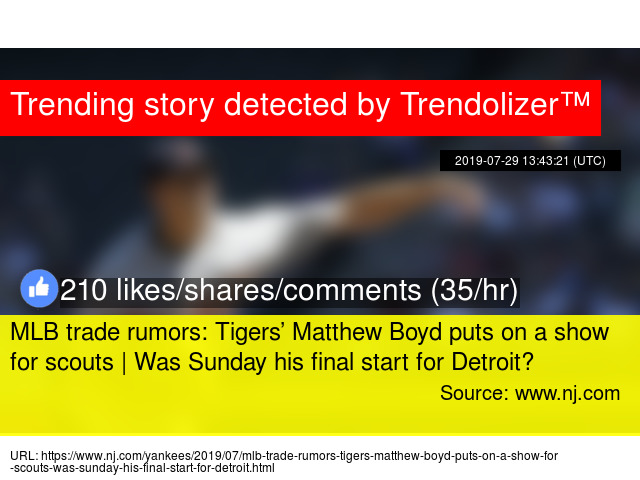 MLB trade rumors: Tigers' Matthew Boyd puts on a show for