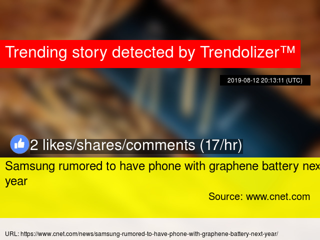 Samsung rumored to have phone with graphene battery next year