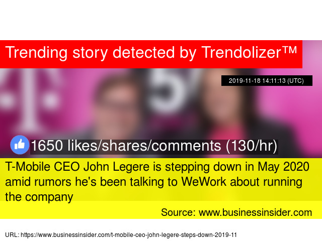 T Mobile Ceo John Legere Is Stepping Down In May 2020 Amid Rumors