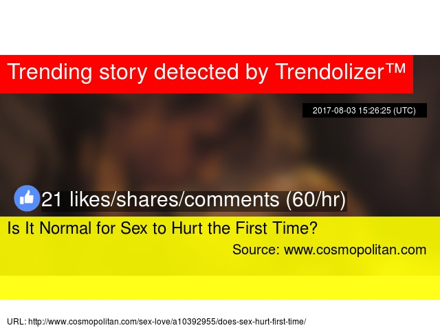 Does sex hurt the first time masturbation pic