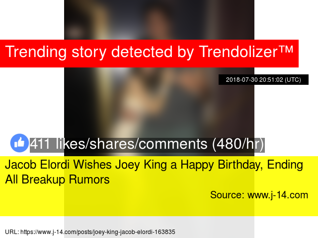 Jacob Elordi Wishes Joey King a Happy Birthday, Ending All
